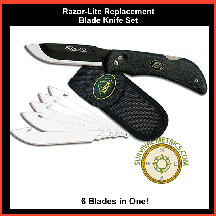 Razor Lite Replacement Blade Knife System With 6 Blades